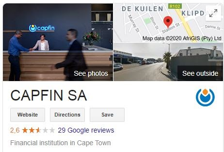 Capfin Google Profile