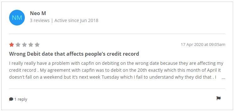 Capfin negative review