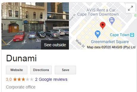 Dunami google profile