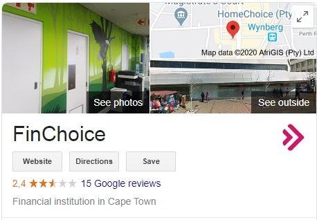 FinChoice - Google profile